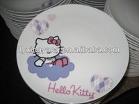 custom ceramic plates,ceramic flat plate and dish,watermelon ceramic plate