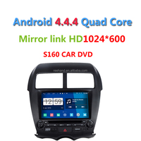 S160 1024*600 Android 4.4.4 Car DVD player for MITSUBISHI ASX Peugeot 4008 Citroen New C4 with radio Wifi GPS navi Quad Core