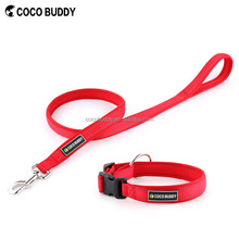 Highly Light Reflecting Neoprene Padding Dog Collar Leash For Large Dogs