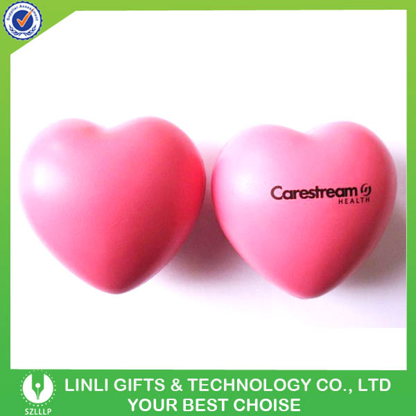 Advertising PU Heart Shape Stress Soft Toy Ball for Gift