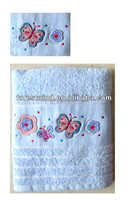 100% cotton material cheap hand towels embroidery pattern