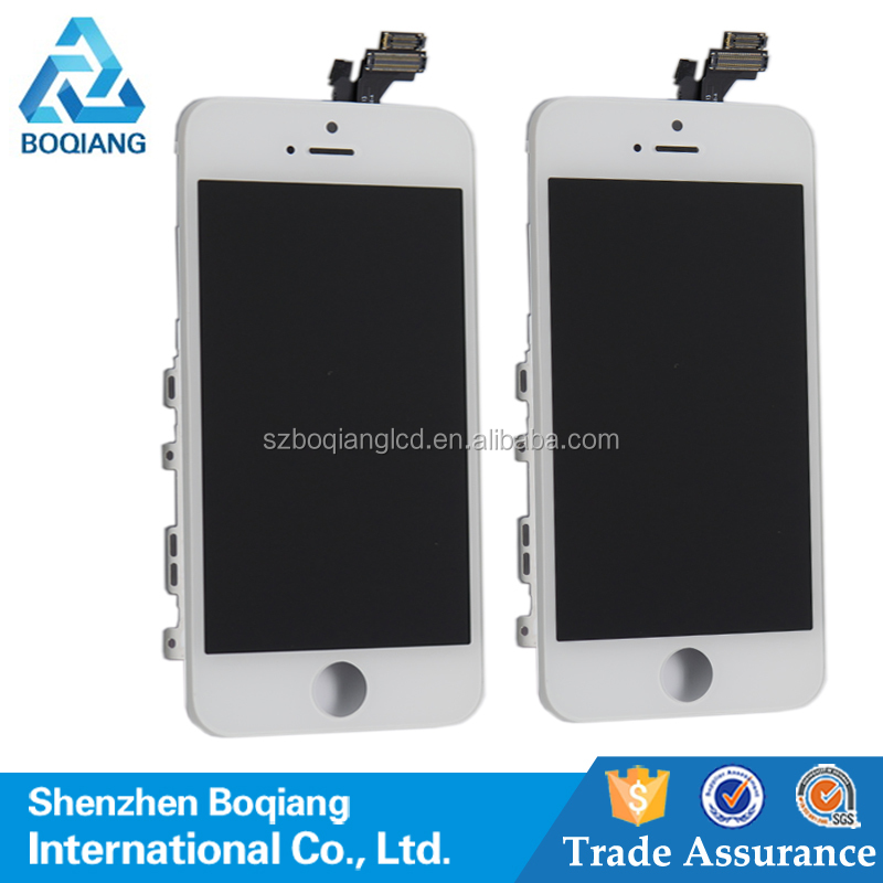 For iPhone 5 LCD Screen + Digitizer Touch Panel + Frame Assembly Repair Parts, wholesale for iphone 5 lcd complete
