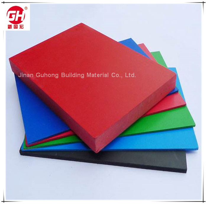 Low density 6mm polyurethane foam sheet PVC foam board with lighter texture
