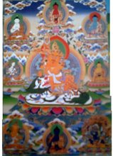 Kubera, The God of Wealth, Thanka Art and painting