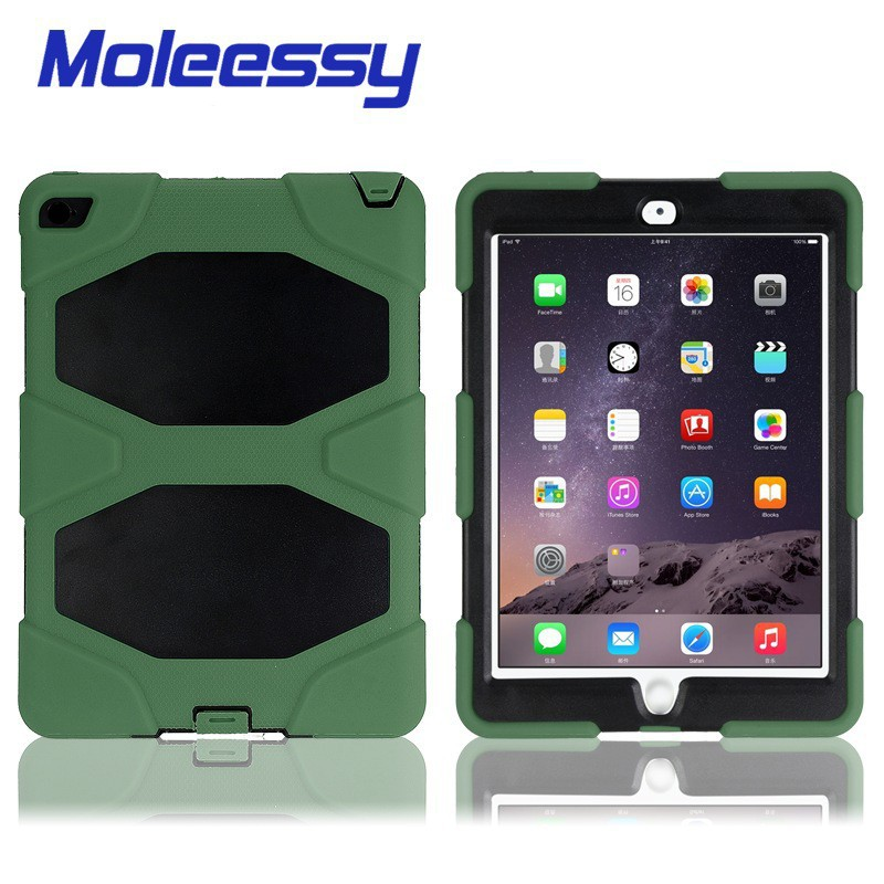 Military defender silicone tablet case for Ipad Air 2