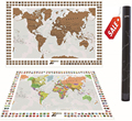 Scratch off world map personalized with country flags and states US Scratch off places you travel map print