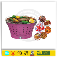 Bucket charcoal stove barrel bbq grill barbecue
