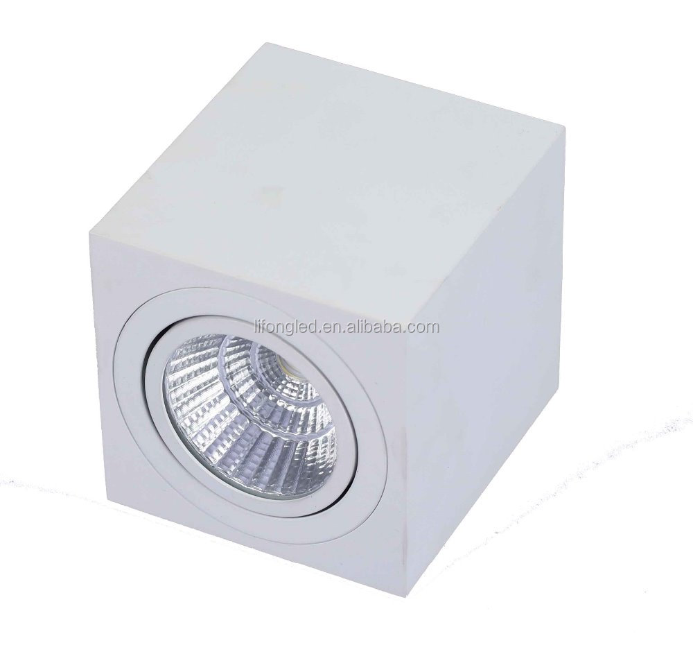 Hot sale surface mounted 7w 12w led COB downlight square with CE&RoHS