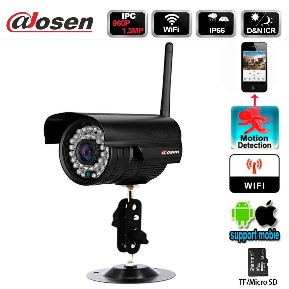 Morden Techniques Gun Type Waterproof wifi IP camera with SD card