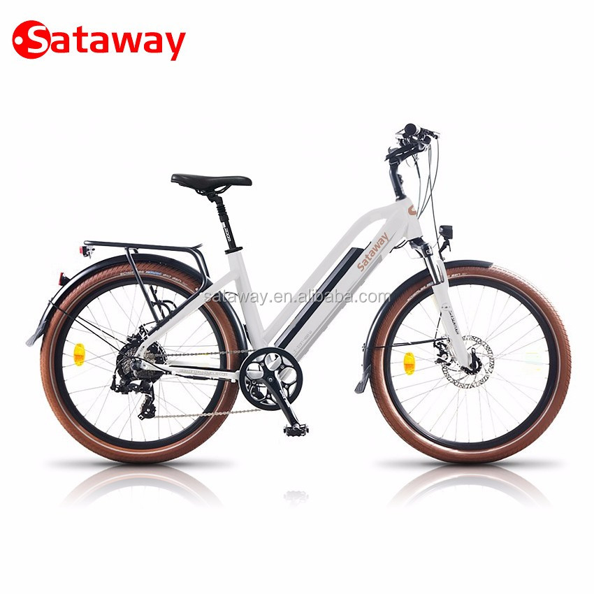 Sataway green city electric bike for woman