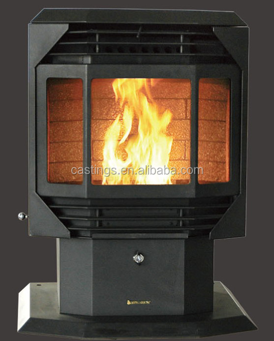 Indoor Modern Pellet Stove Wood Burning Fireplace