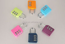 Colorful travel luggage lock 3-dial digital code lock electronic lock