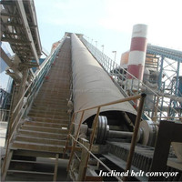 Handling bulk material incline conveyor dj inclined cleated belt conveyor systems