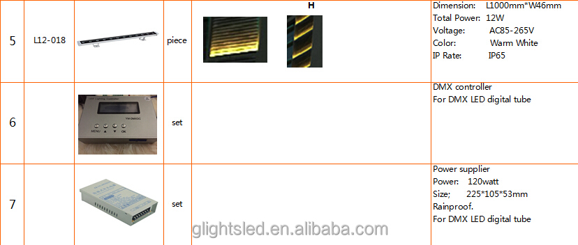 LED outdoor lighting solution RGB Tube for building illumination project