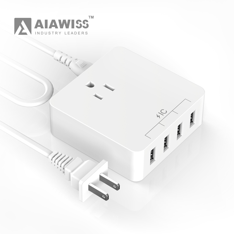 AIAWISS 4 Port USB Desktop, Travel Charger ,USB Charger