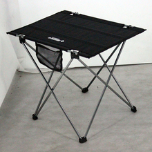 camping picnic aluminum fabric lightweight small folding camping table