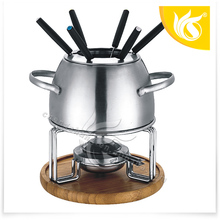 TOP selling Stainless Steel Cheese Fondue Set
