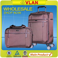 2016 China supplier hot sale soft luggage trolley for airport spinner suitcase