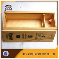 Fashion High Quality Single Bottle Wooden Wine Gift Packaging Box
