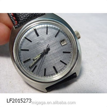 stainless steel case back watch, silver dial watch, classic watch