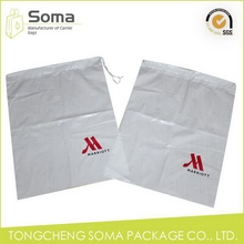 Alibaba china new arrival logo printed plastic drawstring bag