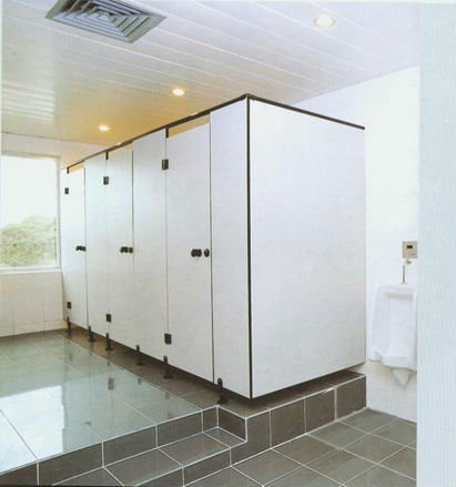 phenolic boards public toilet partitioning