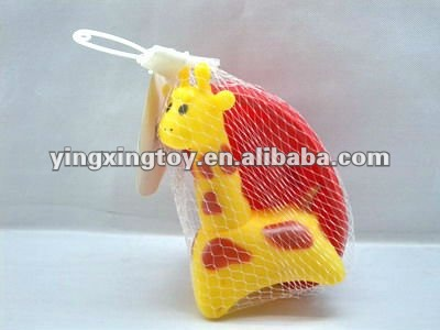 Hot sale baby bath toy,rubber toy giraffe