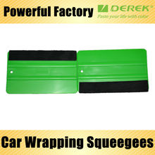 Professional Car Wrapping Tools Green Squeegees Card With Derek Logo