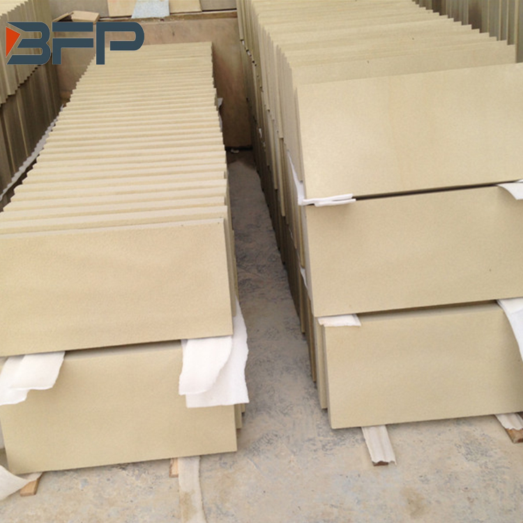 Customized size beige sandstone tile for floor use