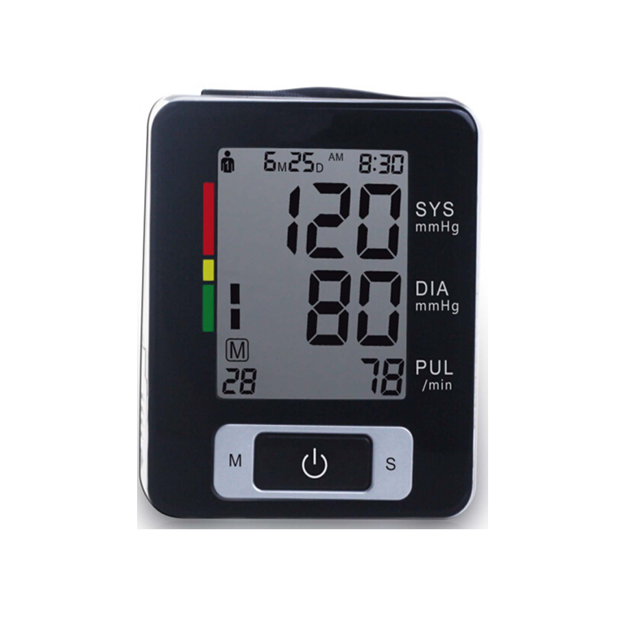 Wrist Blood Pressure gauge Monitor Digital Tonometer & Pulse Meter Health Care Sphygmomanometer medidor de pressao arterial