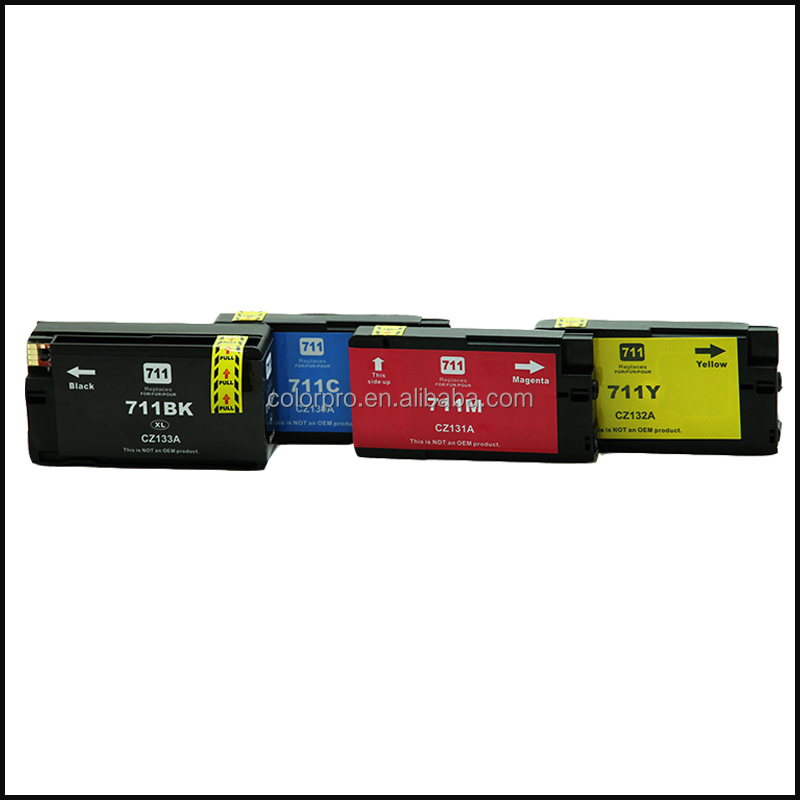 For hp ink cartridge,compatible hp 711 ink cartridges use for hp designjet printer