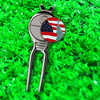 custom golf ball markers and divot tool with belt backside