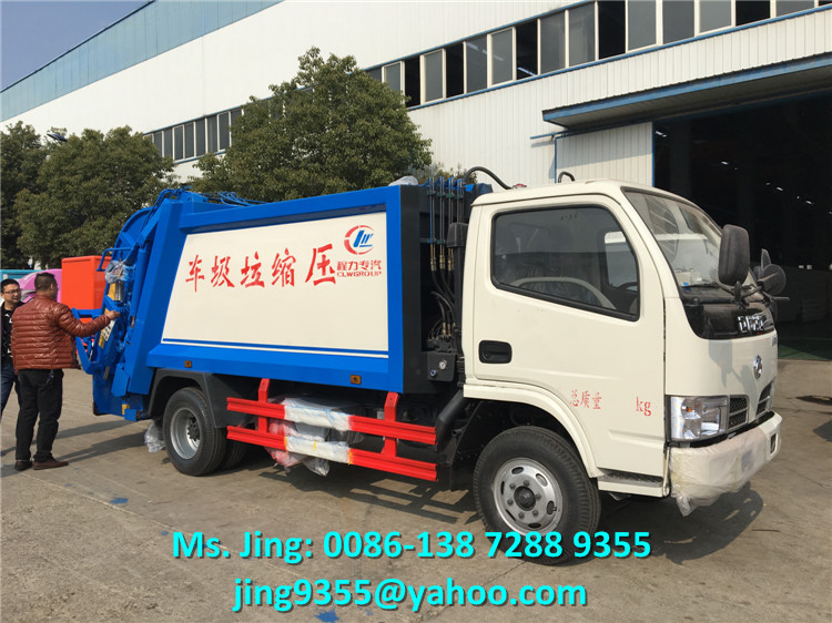 Professional Chengli 4m3 5m3 compressed garbage truck manufacturer in China