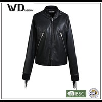 Slim fit outdoor jackets, waterproof softshell leather bomber jacket