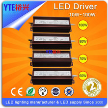 YTE factory whole sale flood light high bay light dimmable led driver 10-100W led capable of CE RoH