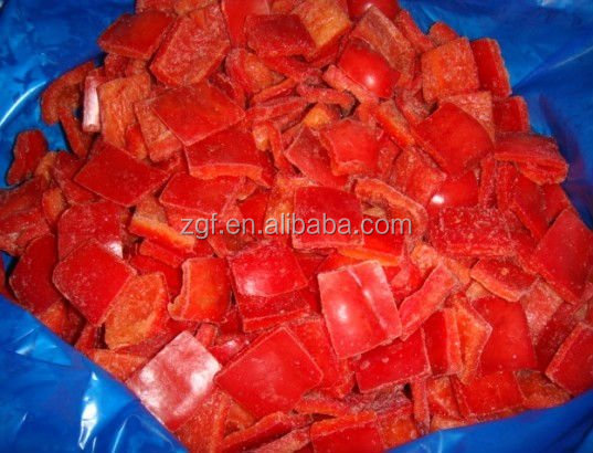 Frozen Red Pepper Diced 10mm, Sweet Bell Pepper
