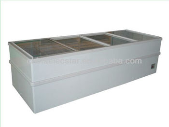 Jumbo Island Freezer with Sliding Glass Lids and Optional capacity 530/750/980L, CE-approved-1