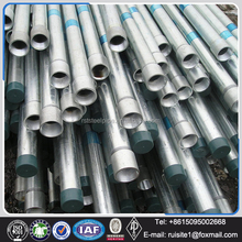 A53-B 1-1/4 inch schedule 80 carbon steel pipe, galvanized steel pipe for greenhouse frame