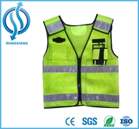 Class 2 Zipper Front Safety Vest Reflective vest Top quality most popular roadwork safety vests for women