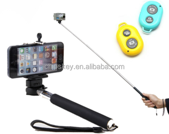 Bluetooth Wireless Self-rod Extendable Monopod for iphone Samsung HTC One LG