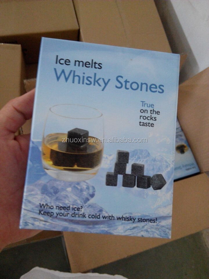 whisky Granite stone ice cube(with pouch bag)