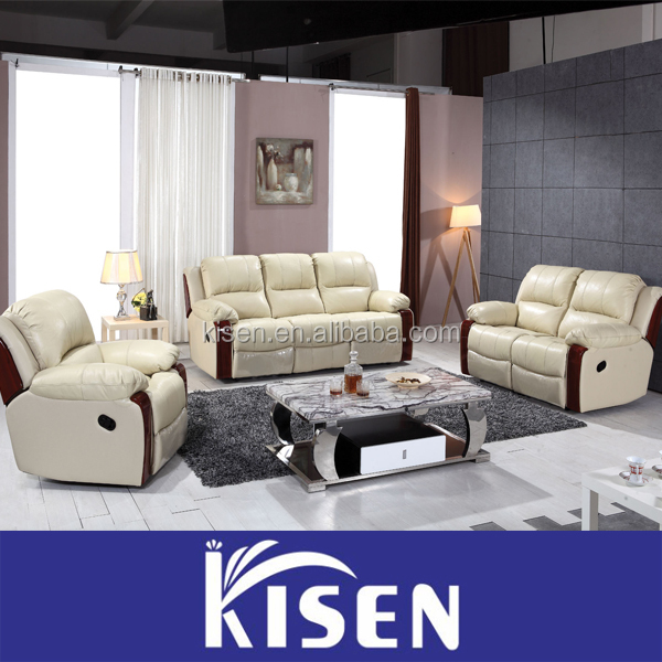 new italian style modern furniture reclining sofa for living room