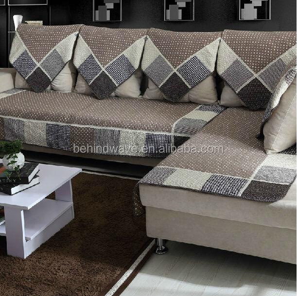 Cotton Cheap Anti Slip Sofa Set Covers