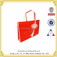 Jiajin non-woven bag, Chinese wind red handbag,shopping bag