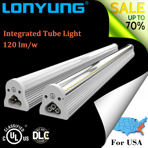 Hot SALE Efficient no glare environmental Al+PC 130lm/w 1200mm 18w led integrated t8 tube light