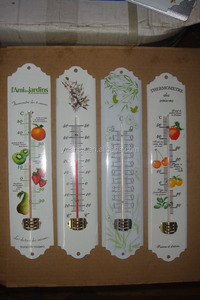 indoor/outdoor mercury free decorative thermometer