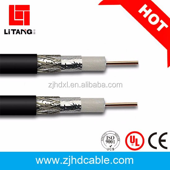 Manufacture low price bare copper/CCS jelly filled rg6 coaxial cable