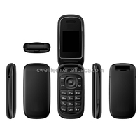 1.77 Inch screen Dual SIM card 2G GSM Unlock low price qwerty keyboard flip mobile phone X11