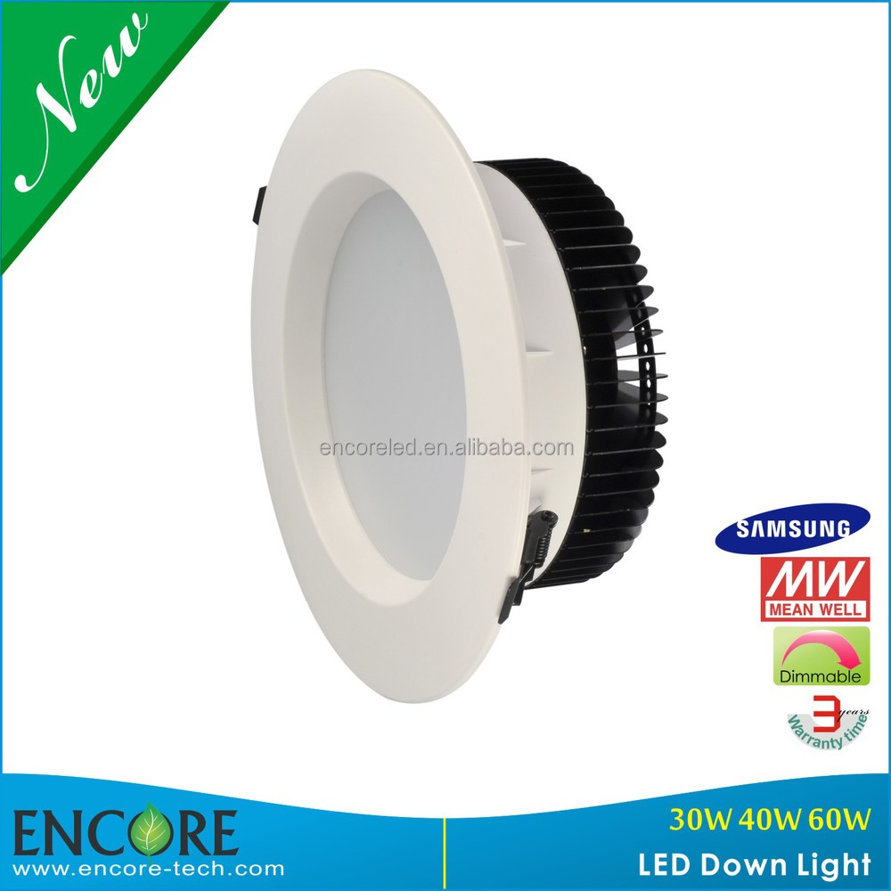 Flat round dimmable double recessed downlight led 40w