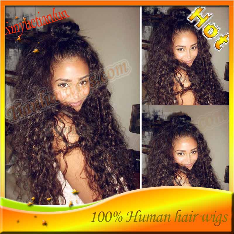 Grade 6A nice Loose Curl Lace Front Wigs& Full Lace wig brazilian human hair with adjustable wig cap